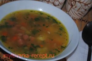 Суп гороховый  с колбасой в мультиварке
