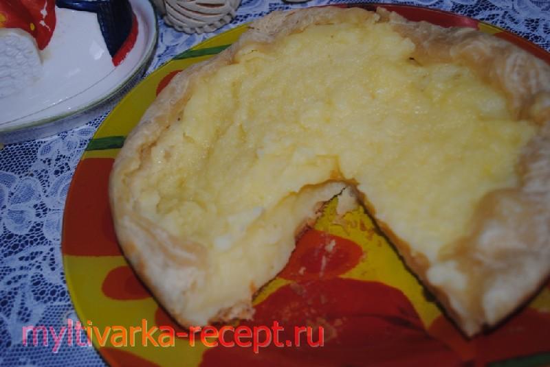 Картофельный шаньга  в мультиварке
