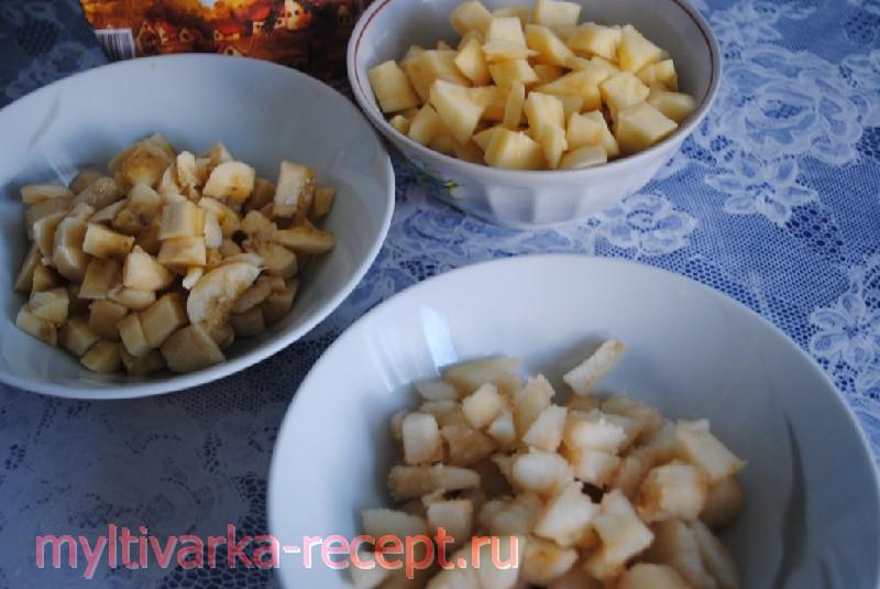 Пирог фруктовый подготовка фруктов