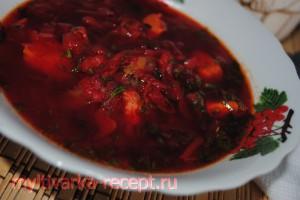 Красный борщ в мультиварке  рецепт