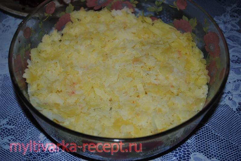 Cеледка под шубой слой картофеля