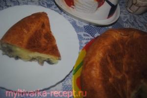 Пирог с грибами в мультиварке Филипс 3039