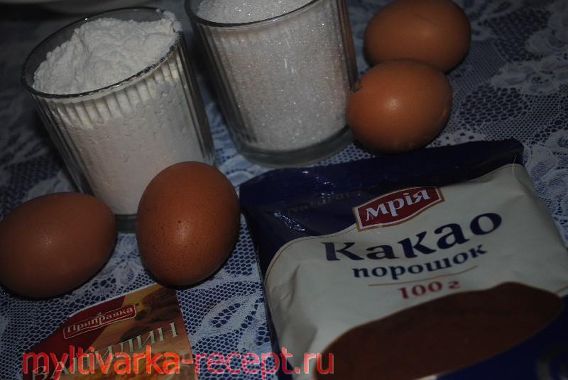 Шоколадный бисквит в мультиварке в филипс
