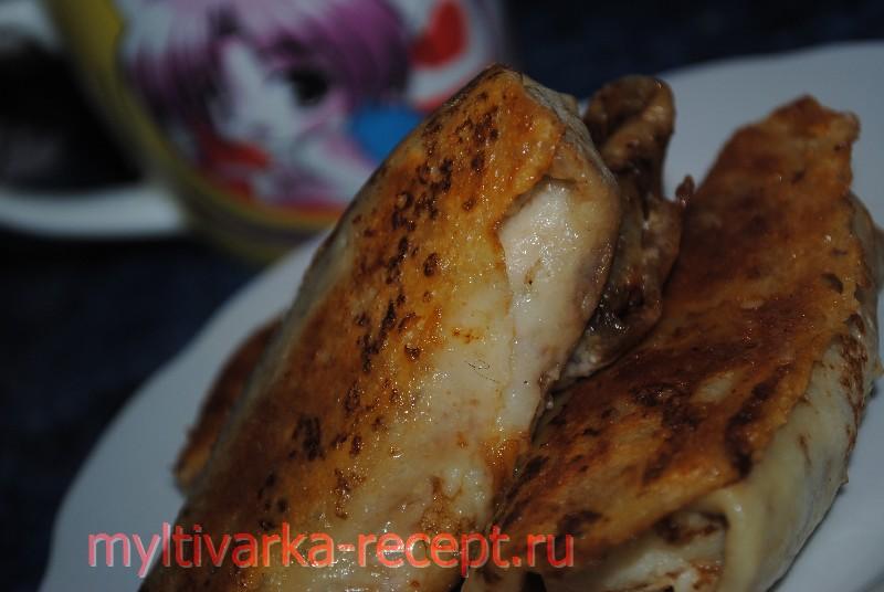 Блины фаршированные курицей и рисом