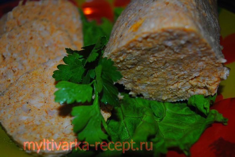 Домашняя куриная колбаса в мультиварке Филипс 3039