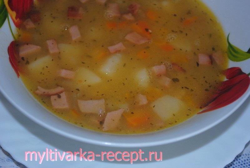 Суп гороховой в мультиварке